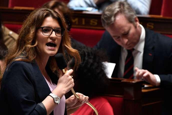 La secrétaire d'Etat chargée de l'égalité femmes/hommes, Marlène Schiappa, le 22 mai à l'Assemblée nationale.