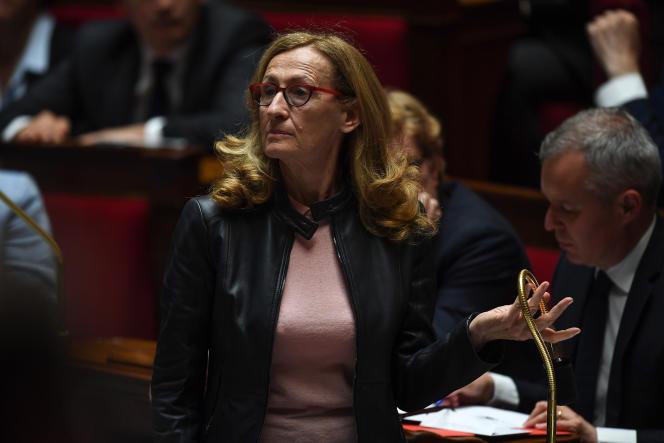 Nicole Belloubet, ministre de la justice, à l'Assemblée nationale, le 15 mai.