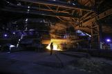A l'usine British Steel de Scunthorpe, dans le nord de l'Angleterre, en septembre 2016.
