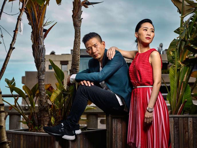 Le réalisateur Midi Z et l'actrice WuKe-xi sur la terrasse de l'Hôtel 3.14, le 21 mai, à Cannes