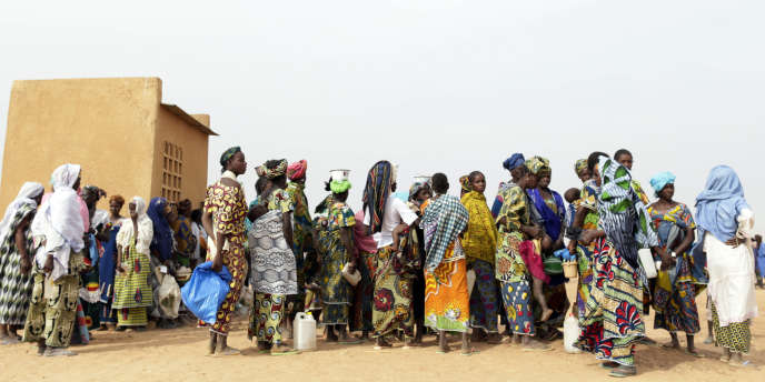 Camp de réfugiés à Menteao, près de la frontière malienne en janvier 2013.