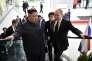 Rencontre entre Kim Jong-un et Vladimir Poutine sur l'île Rousskiprès de Vladivostok, en Russie, le 25 avril.