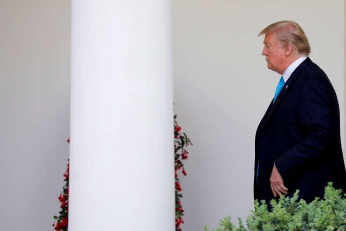 Donald Trump à la Maison Blanche à Washington, le 23 mai.