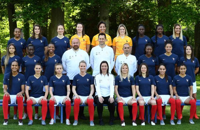 L'équipe de France au grand complet à Clairefontaine (Yvelines), le 23 mai.