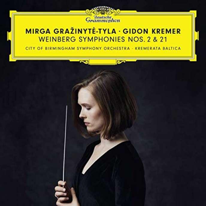 Pochette de l'album« Symphonies Nos 2 et 21 », deMieczyslaw Weinberg, parGidon Kremer (violon), Kremerata Baltica, City of Birmingham Symphony Orchestra, Mirga Grazinuté-Tyla (direction).