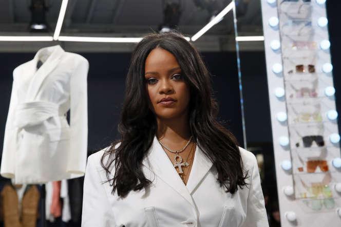 Rihanna, dans le premier pop-up Fenty, le 22 mai, à Paris.