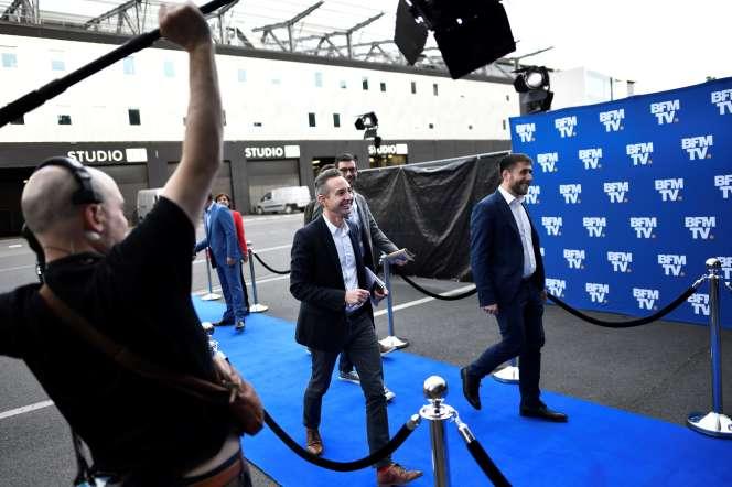 Ian Brossat lors de son arrivée sur les plateaux de BFM TV à La Plaine-Saint-Denis, le 23 mai.