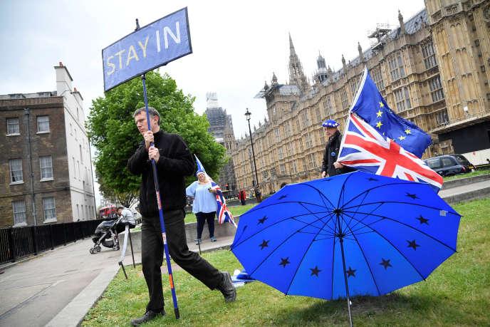 « Le lobby pro-Brexit est composé de populistes issus des meilleures écoles du pays d'une part, et de politiciens à la recherche d'un plus grand pouvoir d'autre part» (Manifestant anti-Brexit à Londres, le 3 mai).