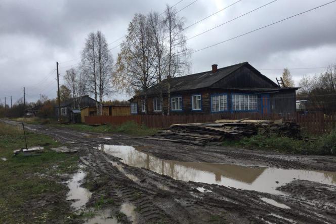 Loyga, village natal d'Alexander Michkin, isolé du reste de la Russie la plupart de l'année.