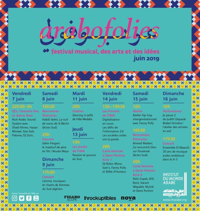 Affiche du festival d'Arabofolies, à Paris.