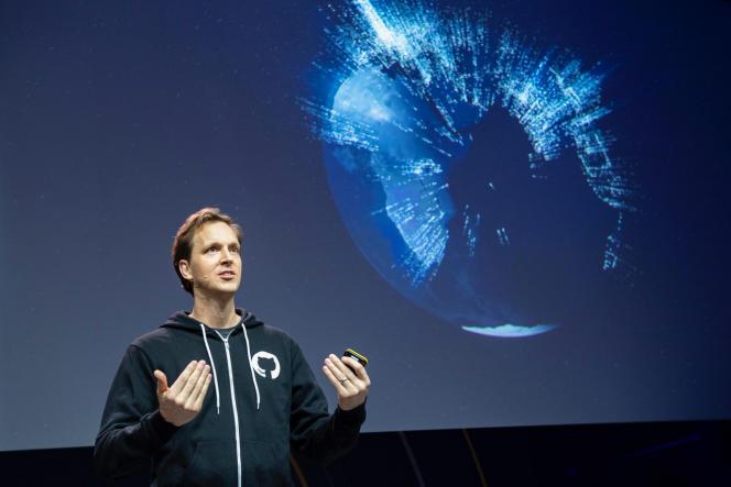 Nat Friedman, le dirigeant de GitHub, le 23 mai, à Berlin.