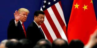 Donald Trump et Xi Jinping, en novembre 2017, à Pékin.