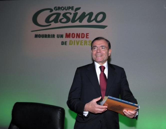 Jean-Charles Naouri, le PDG de Casino, le 21 février 2013. L'homme d'affaires a demandé et obtenu jeudi 23 mai la protection du tribunal de commerce de Paris pour la structure de contrôle du distributeur.