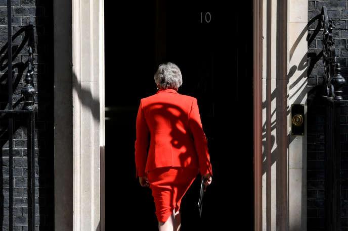 La première ministre britannique Theresa May après avoir annoncé qu'elle démissionnerait le 7 juin, ici le 24 mai 2019 à Londres.