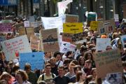 Manifestation de jeunes Suisses contre le changement climatique à Lausanne, le 24 mai 2019.