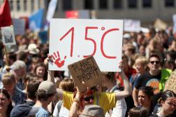 Manifestation intitulée «Global Strike for Climate 2» à Bruxelles, le 24 mai 2019.