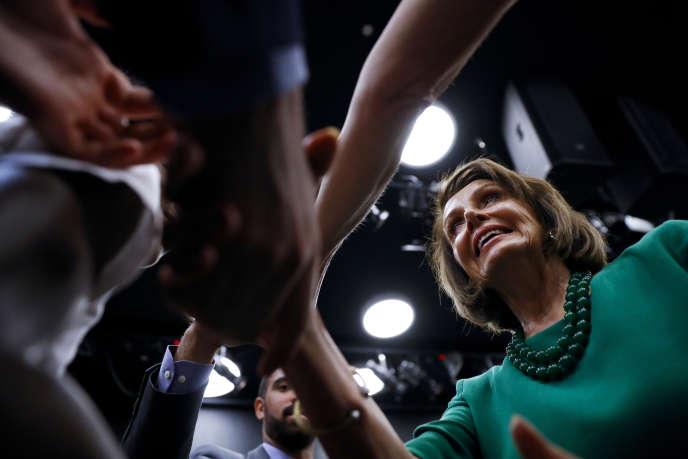 La sepaker de la Chambre des représentants, Nancy Pelosi, le 24 mai, dans le Delaware.