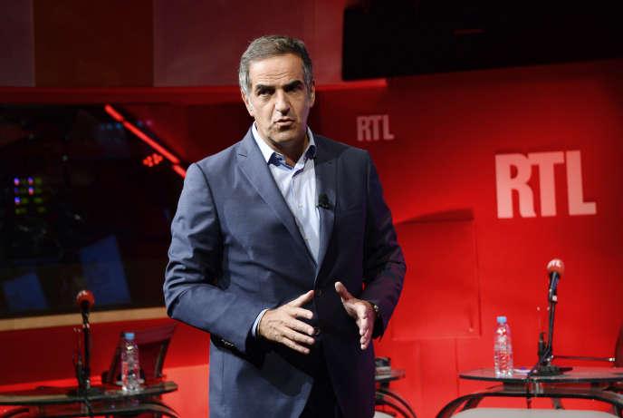 Christopher Baldelli, ici dans un studio de RTL à Paris, en septembre2014, quitte la présidence du groupe de radio.