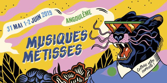Affiche du festival Musiques métisses à Angoulême.