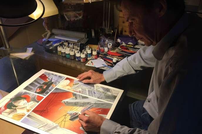 Pascal Somon dans son atelier, à Reims, mardi 22 mai.