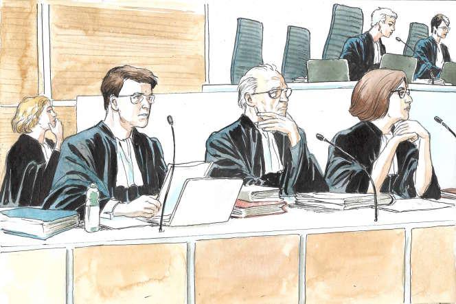 Les avocats de la partie civile lors de l'audience du 24 mai.