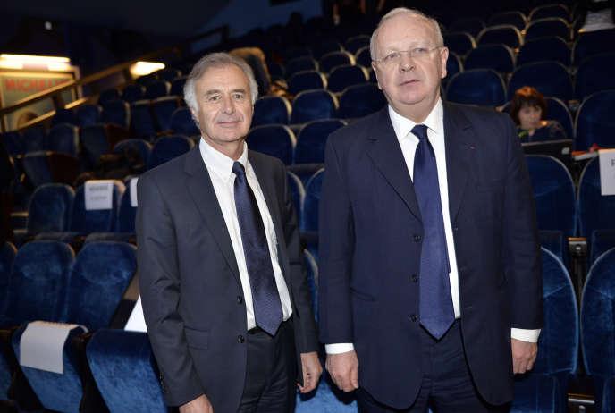 Philippe Petitcolin et Ross McInnes, en février 2015, à Paris.