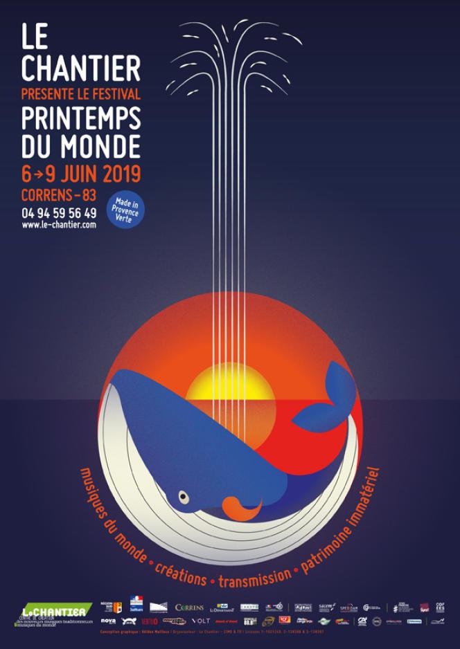 Affiche du festival Printemps du monde, à Correns (Var).