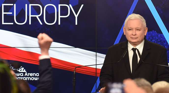 Jaroslaw Kaczynski, chef de file du parti Droit et justice (PiS), le 26 mai à Varsovie.