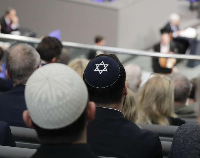 Un hommage aux victimes de l'Holocauste, au Bundestag, le 31 janvier.