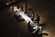 Un bureau de vote, à Lyon, le 26 mai.