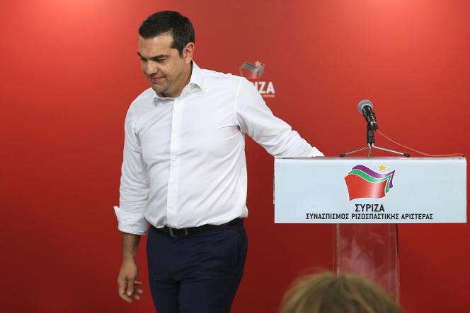 Alexis Tsipras à Athènes, le 26 mai.