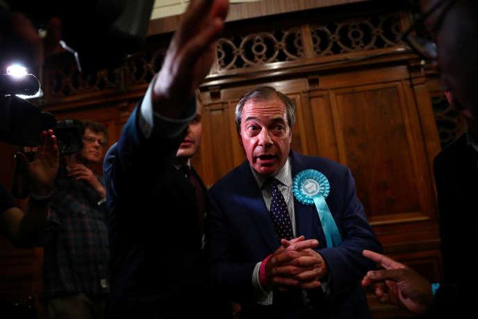 Le chef de file du Parti du Brexit, Nigel Farage, le 27 mai à Southampton.