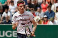 Ugo Humbert lors de son premier match à Roland-Garros, dimanche 26 mai.