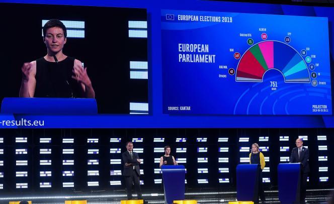 L'écologiste allemande Ska Keller, au Parlement européen, à Bruxelles, le 26 mai.
