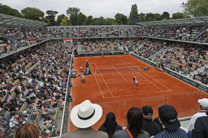 Lors du premier tour entre Venus Williams et Elina Svitolina sur le nouveau court Simonne-Mathieu, lundi 27 mai.