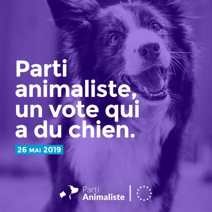 L'une des affiches de campagne du Parti animaliste.