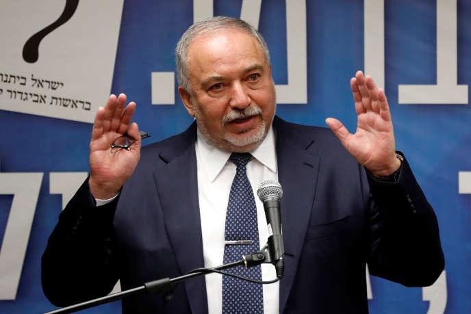 L'ancien ministre de la défense, Avigdor Lieberman, à Jérusalem, le 27 mai.