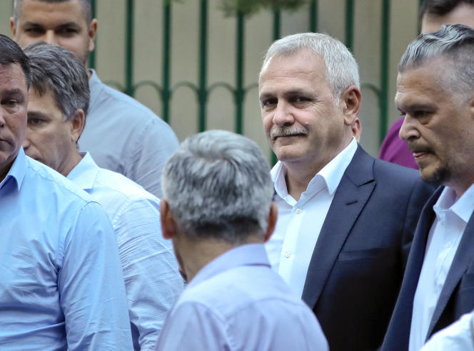 Liviu Dragnea, chef du Parti social-démocrate (SPD) roumain, le 26 mai.