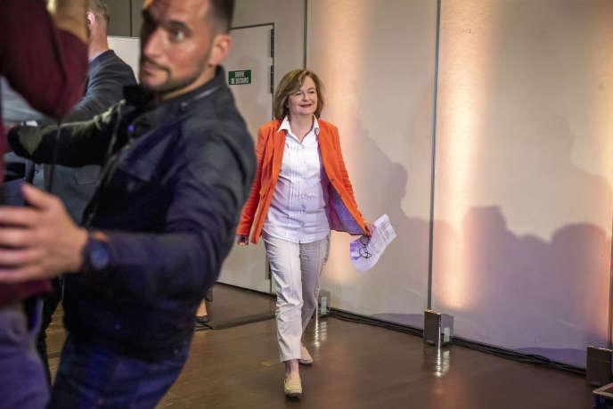 La tête de liste de La République en marche aux européennes, Nathalie Loiseau, à Paris, le 26 mai.
