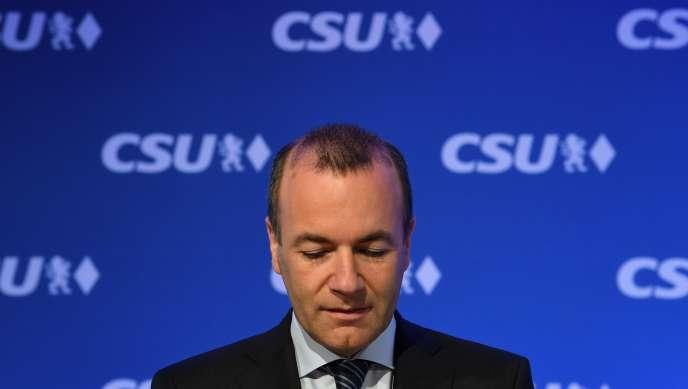 Manfred Weber, «Spitzenkandidat» (tête de liste) de la droite européenne, à Munich, le 27 mai.