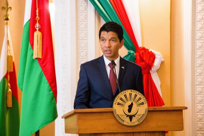 Le président malgache Andry Rajoelina, à Antananarivo, le 29 avril 2019.