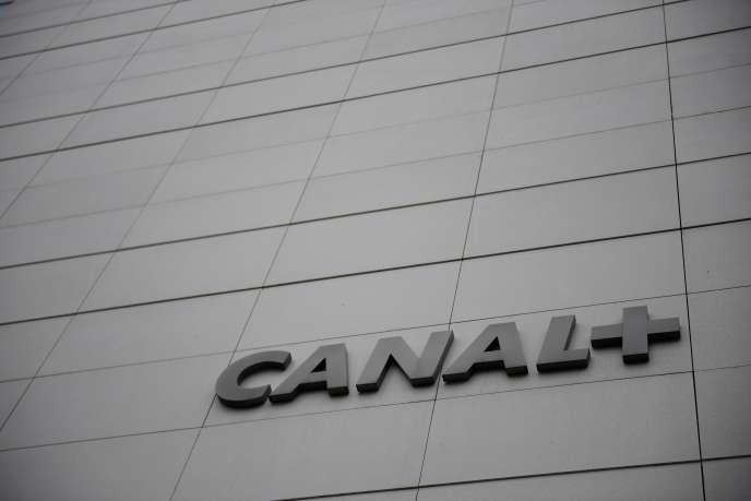 Le logo de la chaîne française de télévision payante Canal+.