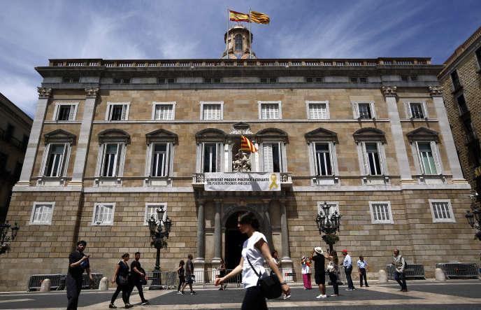 Le palais de la Généralité,qui abrite le siège officiel de la présidence et dugouvernementautonome deCatalogne. à Barcelone, le 27 mai 2019.