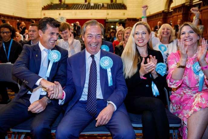 Nigel Farage, lors de l'annonce des résultats des élections européennes, à Southampton (Royaume-Uni), le 27 mai.