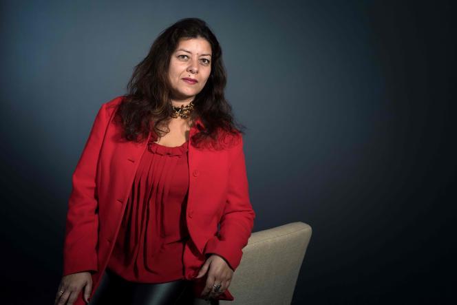 La journaliste Sandra Muller en mars 2018 à Paris.
