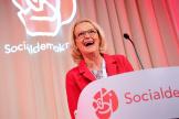 La tête de liste des sociaux-démocrates, Helene Fritzon, en tête des européennes en Suède avec 23,6% des voix, le 26 mai, à Stockholm.