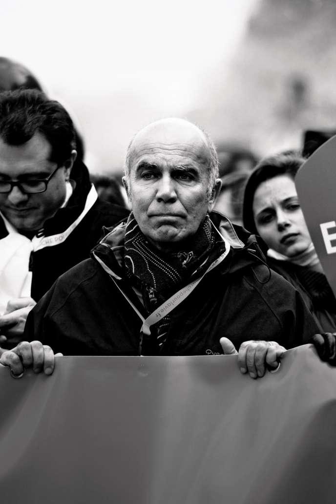 Jean-Marie Le Méné lors d'une«marche pour la vie», en janvier 2015, à Paris.