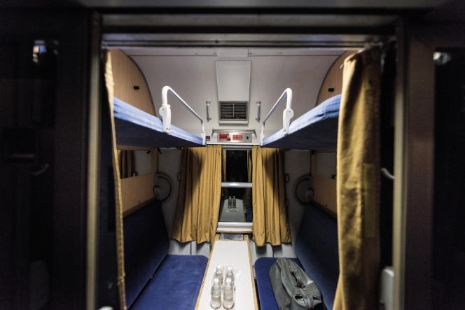 L'intérieur d'une voiture-lits de la compagnie autrichienne ÖBB.