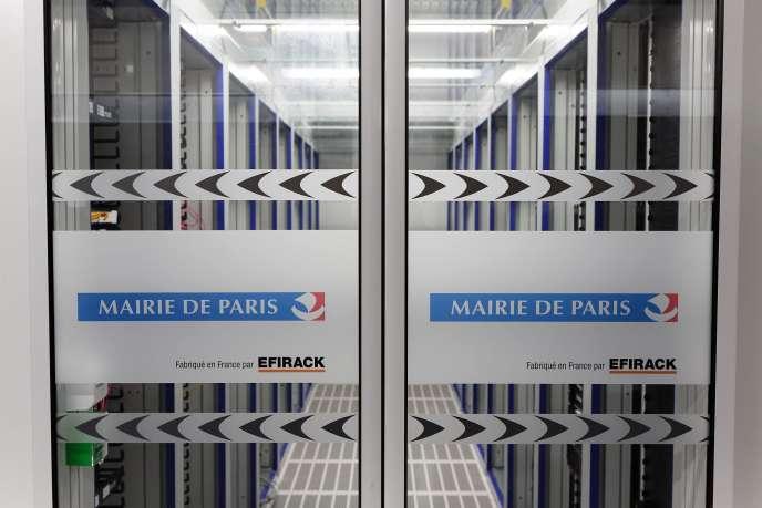 Le centre de données de la Mairie de Paris, dans le 18e arrondissement de la capitale.