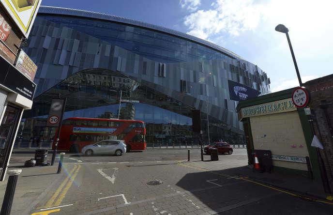 Le nouveau stade du club de Tottenham, White Hart Lane, à Londres (Royaume-Uni), le 24 mars 2019.